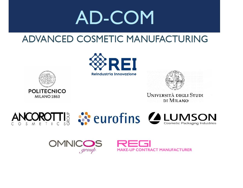 AD – COM, Advanced Cosmetic Manufacturing - SMAU